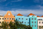 image of curacao  - Colorful resorts and shops on the island of Curacao - JPG