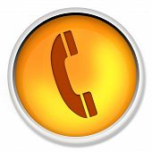 Telephone Icon, Web Icon