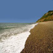 England Devon Jurassic Coast Branscombe Mouth Beach