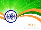pic of indian independence day  - Indian Independence Day background with  wheel - JPG