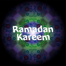 image of ramadan mubarak card  - Ramadan Kareem beautiful greeting card - JPG