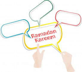 pic of ramadan calligraphy  - Arabic Islamic calligraphy of text Ramadan Kareem stickers label tag set - JPG