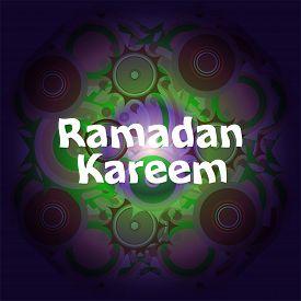 stock photo of ramadan calligraphy  - Arabic Islamic calligraphy of text Ramadan Kareem on abstract background - JPG