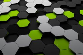 pic of sci-fi  - Abstract 3d rendering of futuristic surface with hexagons - JPG