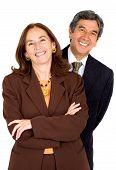 Elegant Business Partners Smiling