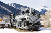 old steam locomotive, Silverton, Colorado, USA