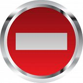 No entry sign - vector illustration