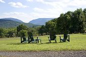 Mountain View With Four Chairs