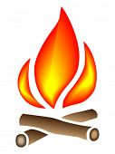 Fire illustration icon