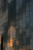Sunset Reflecting In A Building