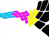 vector illustration of CMYK colors