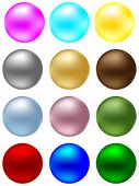 shiny balls different colors vector illustration