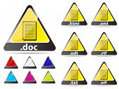 document extension icons