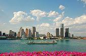 Detroit City Skyline