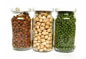 Tricolor Chick Peas In Small Bottles 3 poster