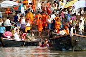 Religious ceremony at Varanasi Uttar Pradesh India