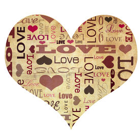 picture of hand heart  - Heart shape full of love text - JPG