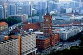 Berlin. Bird's eye view. Town hall (Rathaus)