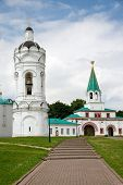 The Bell-tower of St.George and Colonel palace in Kolomenskoye, Moscow, Russia