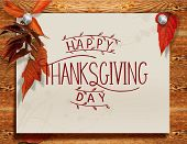Hand Drawn Thanksgiving Typography Poster. Celebration Quote happy Thanksgiving Postcard, Icon/log poster
