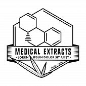 Thc Molecule / Medical (marijuana, Cannabis) Extracts. Vector And Illustration. Logo Design. poster