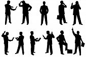 wide variety of silhouette people