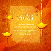 Banner Of Burning Diya On Happy Diwali Holiday Bright Background For Light Festival Of India Creativ poster