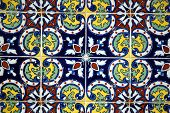 Spanish tile on a wall
