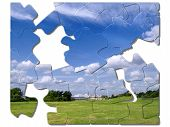 Landscape Jigsaw Illustration