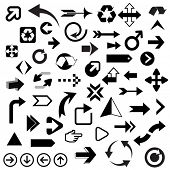 stock photo of reuse  - Huge Set of Arrows - JPG