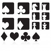 Collection of Cards & Chess Symbols & Icons