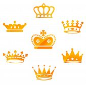 picture of yellow castle  - Set of Red Royal Crowns - JPG