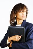 Business Woman With Portfolio