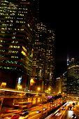 Hong Kong Stadt bei Nacht