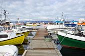 Fishing boats in the harbor of Husavik, Iceland