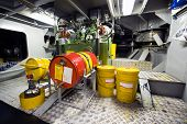 image of tear ducts  - The engine room with the oil pump for lubrication of a tugboat - JPG