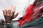 foto of accident victim  - Deadly accident scene - JPG