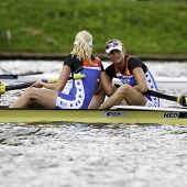 AMSTERDAM-JULY 23: Janssen, Hogerwerf (BW2-) The Dutch Women's pairs win bronze medal at the world c