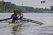 AMSTERDAM-JULY 22: De Groot, Buisman, van Blokland Heskes and Van De Ende (Dutch BM4+) start at the