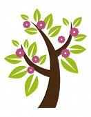 stylized tree in bloom