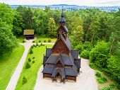 Gol Stave Church Or Gol Stavkyrkje Is A Stave Church In Oslo, Norway. Gol Stave Church Located In Th poster