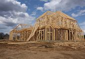 image of 2x4  - New home under construction - JPG