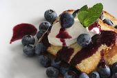 Pound Cake With Blueberries And Whipped Cream