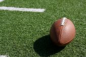 stock photo of ncaa  - American football on the field - JPG