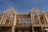 stock photo of 2x4  - New house construction - JPG