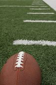 American football with hashmarks