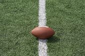 American football on the line
