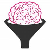 Vector Brain Filter Illustration. An Isolated Illustration On A White Background. poster