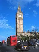 Big Ben And London Traffic
