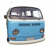 1973 Volkswagen Kombi Van isolated with clipping path
